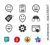 happy face speech bubble icons. ...