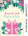 vertical template with gift box ...   Shutterstock .eps vector #666163117