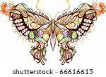 abstract animal     butterfly | Shutterstock .eps vector #66616615