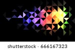 geometric background rainbow... | Shutterstock .eps vector #666167323