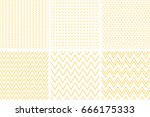 set of geometric line abstract... | Shutterstock .eps vector #666175333