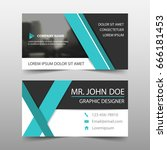 blue corporate business card ... | Shutterstock .eps vector #666181453