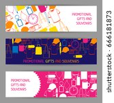 advertising banners with... | Shutterstock .eps vector #666181873