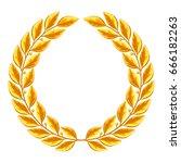 realistic gold laurel wreath.... | Shutterstock .eps vector #666182263