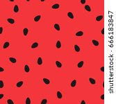 minimalist watermelon seamless... | Shutterstock .eps vector #666183847