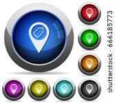 tagging gps map location icons... | Shutterstock .eps vector #666185773