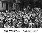 milan  italy   june 24  people... | Shutterstock . vector #666187087