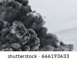 smoke cloud explosion   Shutterstock . vector #666193633
