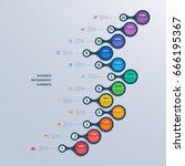 infographics timeline template... | Shutterstock .eps vector #666195367