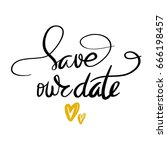 quote save our date the trend... | Shutterstock .eps vector #666198457