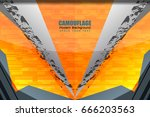 camouflage grunge texture and... | Shutterstock .eps vector #666203563