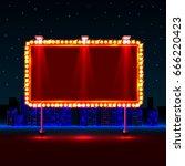 empty neon banner signboard on... | Shutterstock .eps vector #666220423