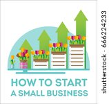 infographic small business. the ... | Shutterstock .eps vector #666224233