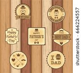happy father's day logo  banner ... | Shutterstock .eps vector #666224557