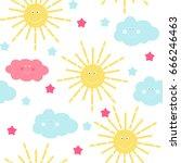 children's seamless pattern... | Shutterstock .eps vector #666246463