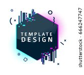 template design round banner... | Shutterstock .eps vector #666247747