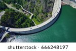 4k aerial photo of vidraru dam...   Shutterstock . vector #666248197