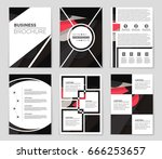 abstract vector layout... | Shutterstock .eps vector #666253657