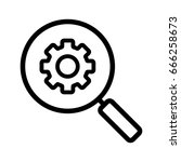 settings search linear icon.... | Shutterstock .eps vector #666258673