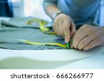 closeup of skilled caucasian... | Shutterstock . vector #666266977