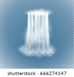 waterfall  isolated on... | Shutterstock .eps vector #666274147