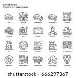 car service service  square... | Shutterstock .eps vector #666297367