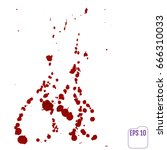 dripping blood isolated on... | Shutterstock .eps vector #666310033