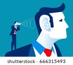 businessman shout to the... | Shutterstock .eps vector #666315493