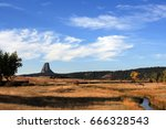 devils tower  also know as bear ... | Shutterstock . vector #666328543