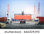 logistics import export... | Shutterstock . vector #666329293