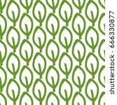 repeated outlines of leaves.... | Shutterstock .eps vector #666330877