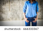 closeup woman casual outfits... | Shutterstock . vector #666333367