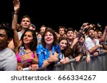 barcelona   may 30  the crowd... | Shutterstock . vector #666334267