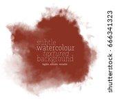 dark brown watercolor background | Shutterstock .eps vector #666341323