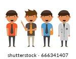 occupation vector illustration. | Shutterstock .eps vector #666341407