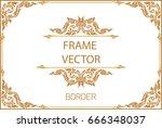 thai art  gold border frame...   Shutterstock .eps vector #666348037