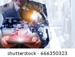 industry 4.0    concept  of man ... | Shutterstock . vector #666350323