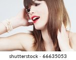 expressive glamour woman | Shutterstock . vector #66635053