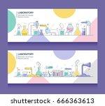 banner of laboratory | Shutterstock .eps vector #666363613