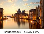 sunrise over grand canal in... | Shutterstock . vector #666371197