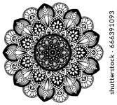 mandalas for coloring book.... | Shutterstock .eps vector #666391093