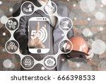 5g industry 4.0 mobile... | Shutterstock . vector #666398533