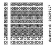 asian frame ornament  pattern...   Shutterstock .eps vector #666399127
