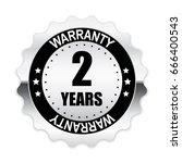 2 years warranty silver label ...   Shutterstock .eps vector #666400543