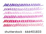 watercolor doodle loop pattern. | Shutterstock . vector #666401833