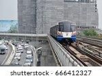 Small photo of BANGKOK - Apr 29: The Bangkok Mass Transit System (BTS) at a city centre station Apr 29, 2017 in Bangkok Thailand. The Thai capital's BTS rail public transport system serves 600,000 passengers daily