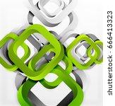 square vector background  3d... | Shutterstock .eps vector #666413323