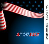july fourth  independence day.... | Shutterstock . vector #666414793