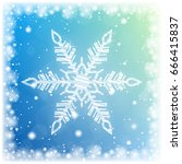shiny sparkling snowflake on...   Shutterstock .eps vector #666415837