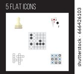 flat icon entertainment set of... | Shutterstock .eps vector #666426103